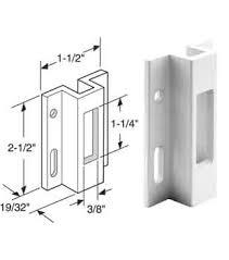 Patio Door Latch Replacement by Wgsonline Sliding Glass Patio Door Latch Keeper White Aluminum