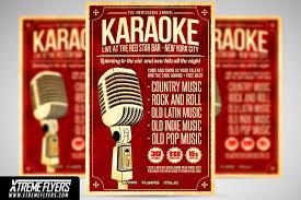country music karaoke free karaoke flyer template flyer templates creative market