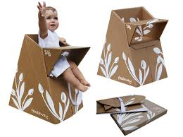 Portable Baby High Chair Portable Flatpak High Chair Made From 100 Recycled Cardboard