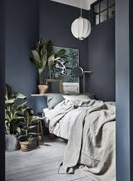 gravity home small bedroom with plants in a tiny blue stockholm
