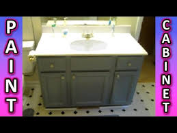 Countertop Cabinet Bathroom Paint A Cabinet Bathroom Kitchen Cabinets How To Painting Tips