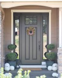 my front door painted in sherwin williams tricorn black the