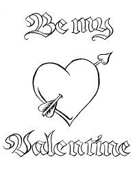 valentine heart coloring pages getcoloringpages
