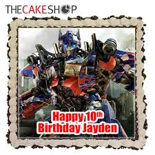 optimus prime birthday optimus prime cake delivery singapore