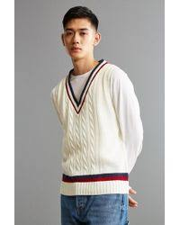 urban outfitters character hero penguin sweater in gray for men lyst
