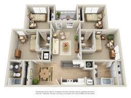 rates floor plans university villa apartments 4 x 4 four bedroom