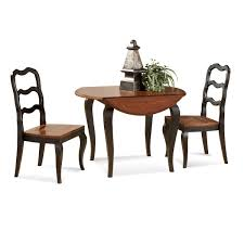 bassett mirror antoinette round drop leaf dining table in black