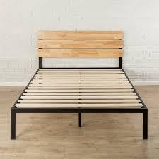 amazon com zinus sonoma metal u0026 wood platform bed with wood slat