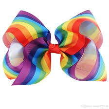hair bows 8 inch 5 hair bow boutique large rainbow hair bows hair clip
