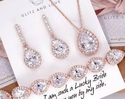 rose gold bracelet set images Jewelry set etsy jpg