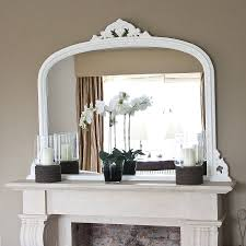 3 Stylish Mantel Displays Sainsbury White Beaded Edge Overmantel Fireplace Mirror Fireplace Mirror