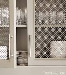 Cabinet Door Mesh Inserts 40 Ingenious Kitchen Cabinetry Ideas And Designs Metal Mesh