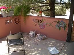 Garden Wall Paint Ideas Painted Garden Wall Ideas Photograph Garden Walls Ga