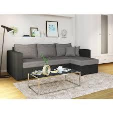 Wohnzimmerschrank Mit Bettfunktion Ecksofa Mit Schlaffunktion Grau Schwarz Stellmaß 224 X 144 Cm