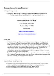 Networking Administrator Resume System Administrator Resume 120713045942 Phpapp01 Thumbnail 4 Jpg Cb U003d1342155650