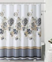 Roller Curtain Hooks Shower Curtain Floral Fabric Designer Cynthia Rowley 72 X 72 Funky