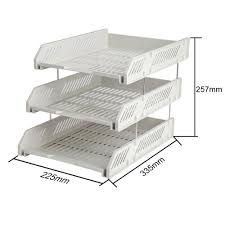 File Desk Organizer by 3 Tier Office File Tray Holder Document Letter Desktop Organizer