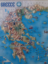 Greek Map Graphic Map Greece