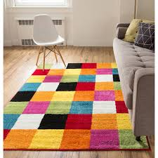 Floor Rugs by Well Woven Starbright Bright Square Kids Area Runner Rug Multi