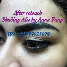 membuat alis dengan henna anna fang center of pemanent makeup beauty salon studio metode