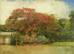 file u0027hawaiian house u0027 oil on canvas painting by theodore wores