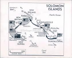 Solomon Islands Map 1943 Photo Ww2 Solomon Islands Map Colonel Sherman Bougainville