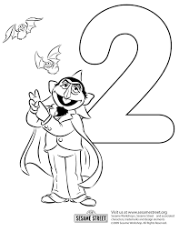 free coloring pages number 2 sesame street coloring pages to download and print for free