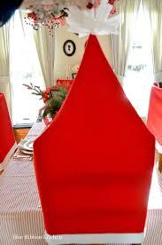 santa chair covers blue ribbon kitchen santa claus is coming santa hat chair covers