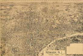 Newark Map Birdseye View Of Newark New Jersey 1895