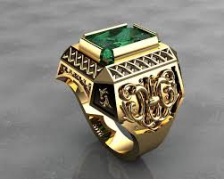 mens rings images Gold signet rings mens rings 3d printable model cgtrader jpg