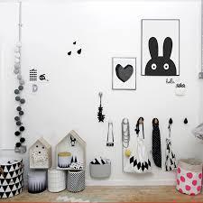 scandinavian kids room with wall hooks house shelves ferm