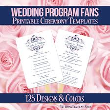 where to print wedding programs diy printable wedding program fan template shown here in the grace