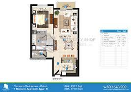 floor plan of centurion residence
