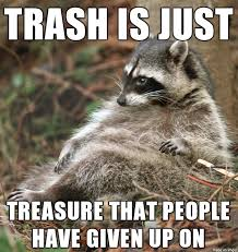 Racoon Meme - buddha raccoon regarding trash meme on imgur