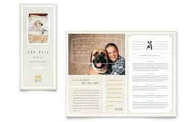 pet hotel u0026 spa brochure template word u0026 publisher