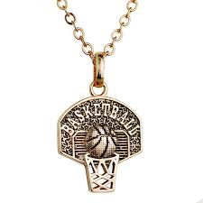 personalized basketball necklace sport pendant necklace basketball hoop charm necklace personalized
