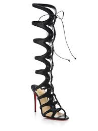christian louboutin leather wrap sandals christian louboutin