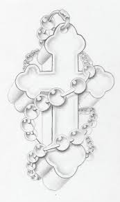 cross w rosary by markfellows on deviantart