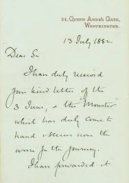 monster writing paper snakes in the mail new york historical society letter from sir john lubbock to treadwell acknowledging receipt of the gila monster july 13 1882 ms 636 george a treadwell papers