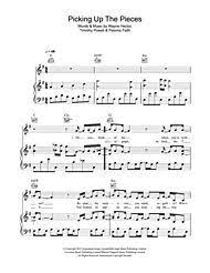 Picking Sheet Picking Up The Pieces For Piano By Paloma Faith Tim Powell