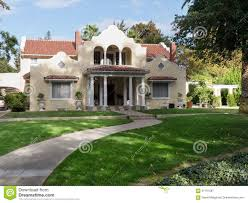 luxury adobe house in afternoon sun stock photo image 61791587