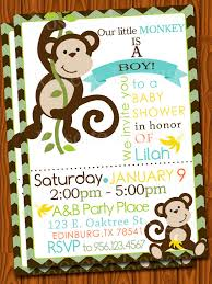 monkey baby shower invitations blueklip