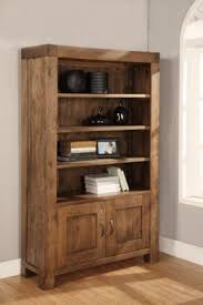 Bookcase With Doors And Drawers Wooden Bookcases With Doors Foter