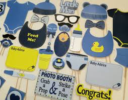 pdf boy baby shower photo booth props printable photobooth