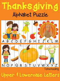 free thanksgiving alphabet puzzle totschooling toddler