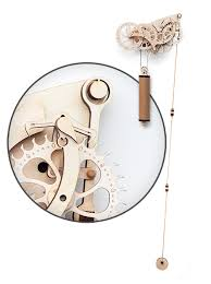 wooden mechanical clock kit thinkgeek