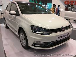 volkswagen 2017 white vw ameo crest showcased at aps 2017