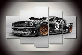 chambre de d馗ompression hd imprimé ford mustang rtr voiture peinture impression sur toile