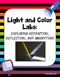 light and color reflection refraction and absorption labs by