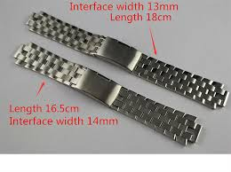steel bracelet strap images 13mm l960 110 t60 14mm l975 110 new watch parts male solid jpg